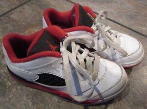 Nike Air Jordan Retro V Low Fire Red White Black Size 10C 314340-101