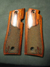 COLT .380/Mustang Plus 2 ONLY Rosewood Checkered w/Fleur-de-lis Pistol Grips NEW