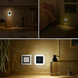 Mini Light Sensor Control EU US Plug Night Light Lamp For Bedroom Living room