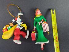 More details for vintage grolier disney christmas tree ornaments roger rabbit 115 & jessica 119