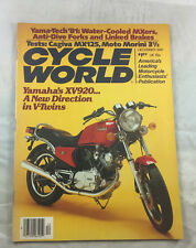 Yamaha XV920 December 1980  Cycle World   Motorcycle Vintage Magzine