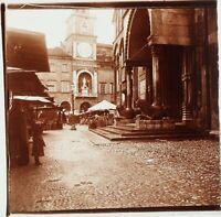 ITALIE Modène Le Dôme, Photo Stereo Plaque Verre ca 1910