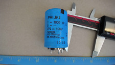 PHILIPS 2222-050-59102 1000UF 100V Slightly Damaged Capacitor New Quantity-4