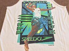 Speedo Volleyball Power Serve Vintage Retro 90s 1995 White Tank Top Shirt Medium