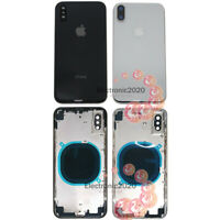 """Battery Cover Housing Back Glass Chassis Frame Backdoor For Apple iPhone X 5.8"""""""