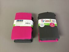 NWT Girl's Trimfit Fleece Lined Tights Size Large 10-14 Grey/Pink 2 Pair #94R