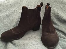 Alberto Fermani Genesis Womens 38 8 Dark Brown Suede Booties Chelsea Ankle Boot