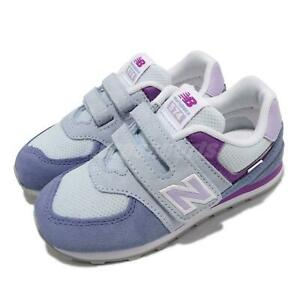 New Balance 574 W Wide Blue Purple Strap Toddler Infant Casual Shoes IV574SL2 W