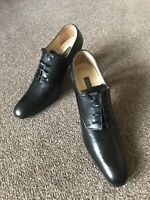 New Pied A Terre Black Oxford Leather Grain Shoes EU 38 (UK5) Narrow Fit (UK4.5)