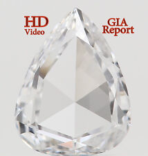 GIA CERTIFIED Natural Loose Diamonds Pear D Color Si2 6.48 MM 0.46 Ct L3858
