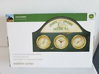 JOHN DEERE WEATHER STATION THERMOMETER BAROMETER HUMIDITY WALL HANGING