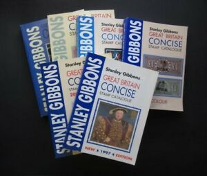 MULTI-LISTING STANLEY GIBBONS G.B. CONCISE STAMP CATALOGUE 1997-2020 ( ref B8 )