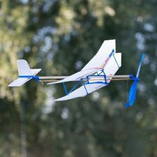Rubber Band Powered Plane Flying Model Aeroplane Toy Retro Fun