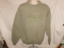 MACK TRUCK 100% Cotton Long Sleeve Henley Green XL