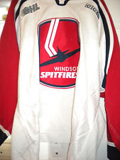 2003-2004 OHL USHL CWUAA WINDSOR SPITFIRES TOM MANNINO GAME WORN HOCKEY JERSEY