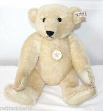 """❤STEIFF LEATHER PAW ~Margaret Strong White Bear~ Collectors Ed 1985 16"""" 0158/41❤"""