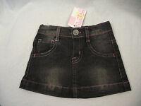BNWT Baby Girls Sz 00 Cute Black Denim Designer BQT Brand Short Mini Skirt
