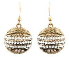 Zest Ball Aros Colgantes Con Cristales Swarovski para orejas perforadas de oro