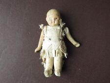Antique bisque poupée de porcelaine, Articulé Bras, habillé comme un Natif Américain Indien