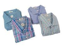 Peter Millar Mens 2XL XXL Long Sleeve Button Front Shirt Lot of 4 Crown Finish