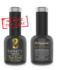 INFINITY NAILS Top coat (NO WIPE) - nail gel polish - UV/LED - NO WIPE TOP 15ml