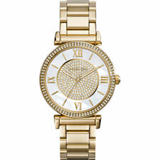 MICHAEL KORS CATLIN WOMENS WATCH MK3332 GOLD CRYSTAL DIAL RRP £299.00