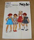 VINTAGE STYLE GIRLS DRESS PATTERN SIZE 3 1970s 1907