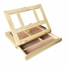 Jeronic Art Supplies Painters Artistic Adult Portable Wooden Desk and Easel with