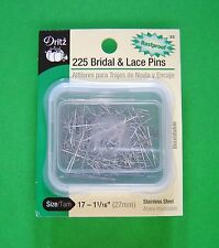 """New 225 Dritz Bridal & Lace Pins - Size 17 - 1 1/16"""" long - Stainless Steel"""