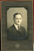 Antique Studio Photo-Young Man Jacket & Tie, Hair Parted in the Middle-New York