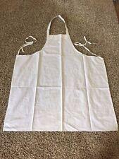 12 White Restaurant Kitchen Bib Aprons 100% polyester White Chefs Aprons