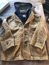 Gap Boys Corduroy Blazer Coat w/ detachable inside vest w hood Size 6-7