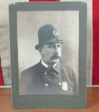 Vintage Antique Police Officer Cabinet Card Photograph Allentown,PA Wm.Morrell