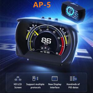 Car HUD Head-up Display Speedometer OBD+GPS+Slope Meter Driving Computer Voltage