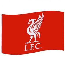 Liverpool Football Club Crest Red & White Flag 5ft x 3ft CC Free UK P&P