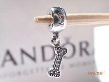 Authentic Pandora Bone Charm I Love My Dog Dangle # 791263CZ