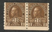 Canada Sc#MR7 M/NH/F, Type II Paste Up Pair, Cv. $450