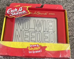Etch A Sketch, Classic Red Drawing Retro Toy with Magic Screen, Ages 3 & Up NIP