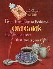 ORIGINAL 1949 AMERICAN MAGAZINE ADVERT FOR OLD GOLD'S CIGARETTS  b193