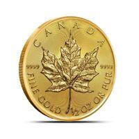 2019 Canada 1/2 Oz $25 .9999 Fine Gold Maple Leaf Coin - Gem BU