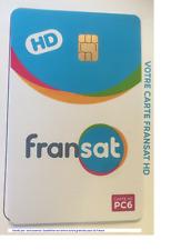 CARTE FRANSAT HD PC6 VALABLE 4 ANS