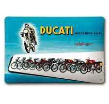 Ducati Metallschild Meccanica blau Blechschild Retro Vintage NEU!