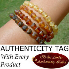 Authentic RAW BALTIC AMBER ADULT BRACELET natural health