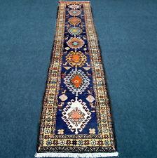 Orient Teppich Läufer 306 x 73 cm Dunkelblau Tiermotive Perserteppich Carpet Rug