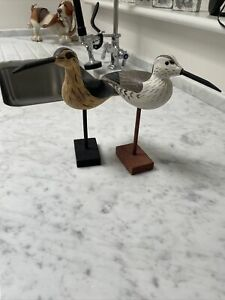 Wooden Birds On Stands
