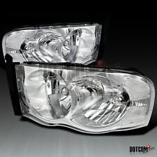 02-05 Dodge RAM 1500 2500 3500 Crystal Head Lights