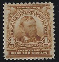 US Stamps - Scott # 303 - 4c Grant - Mint OG Never Hinged - VF           (A-209)