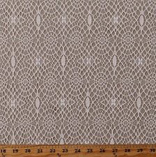 "Patterned Lace Ivory Allover Lace Look Soft 60"" Wide Fabric by the Yard D170.49"