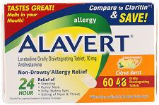 NIP Alavert sealed packets 60 orally disintegrating tablets citrus burst Allergy