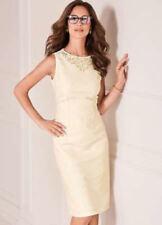💖 Ladies Kaleidoscope Cream Jacquard Floral Embellished Dress UK Size 12 £95
